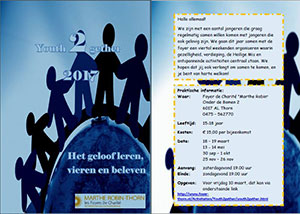 zaterdag 1 t/m zondag 2 december - Jongerenweekend Youth2Gether 15-18 jr