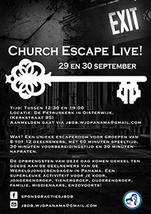 zaterdag 29 t/m zondag 30 september - Church Escape Live
